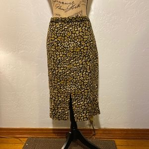 Who What Wear animal print skirt, size 14